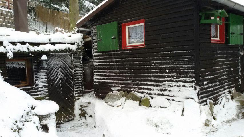 Winter 2016 Eingang Sauna/Luchshütte