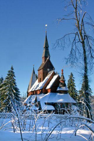 Die Holzstabkirche in Hahnenklee