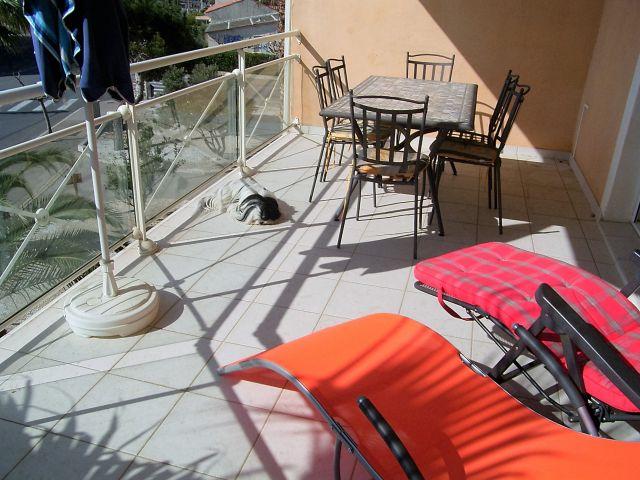großer Balkon FeWo La Plage