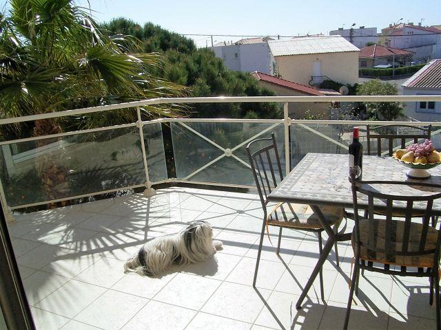 Balkon mit Meerblick FeWo La Plage