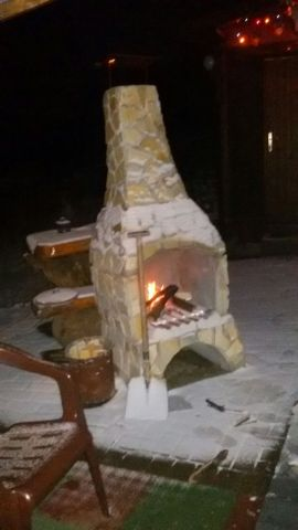 Grillkamin im Winter