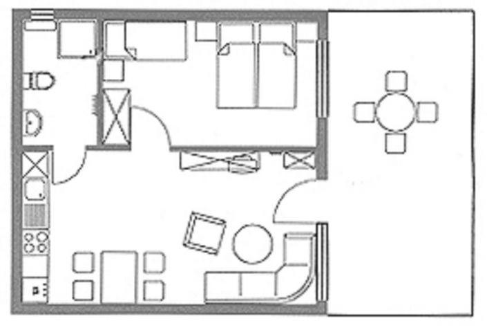 Grundriss - 43m² Wohnfläche