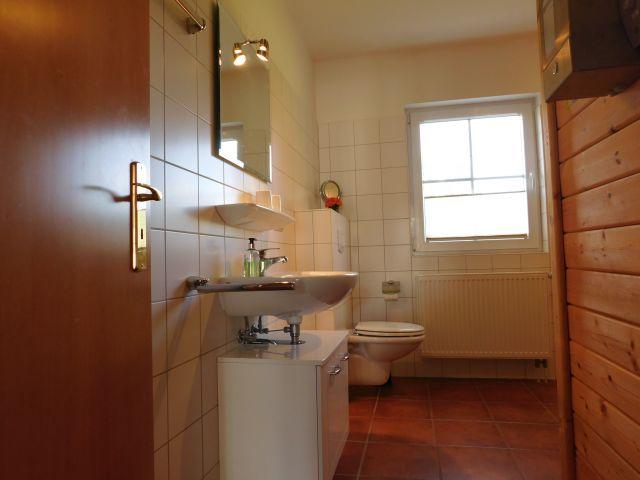 Bad mit WC, Dusche und Sauna im EG