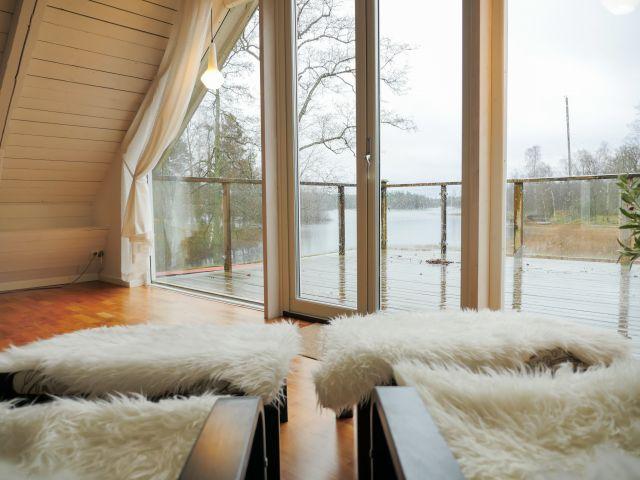 Seeblick aus dem Wohnzimmer oben