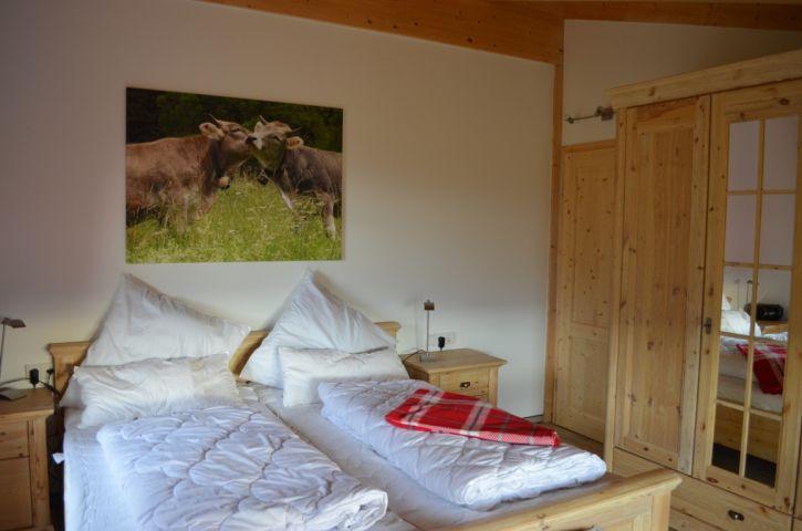 Schlafzimmer Ferienhaus Gamsbock
