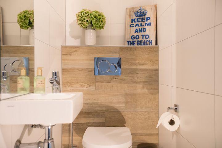 Das WC ist separat und ebenfalls ganz neu renoviert