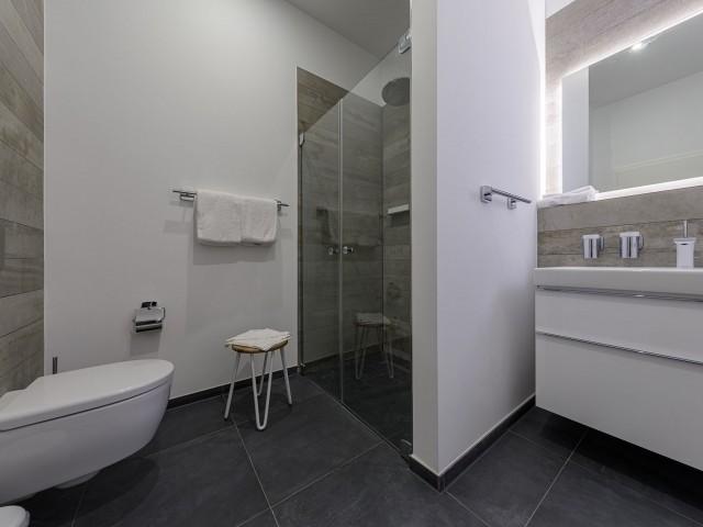 Badezimmer in der Ferienwohnung Admiralssuite