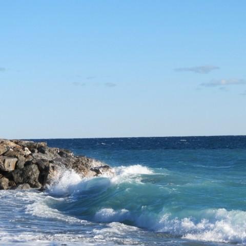 Das Mittelmeer kann auch stürmisch sein.