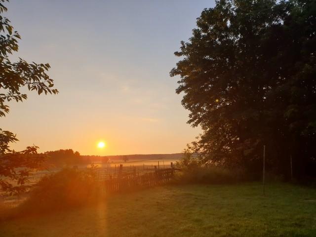 Sonnenaufgang hinter dem Hof
