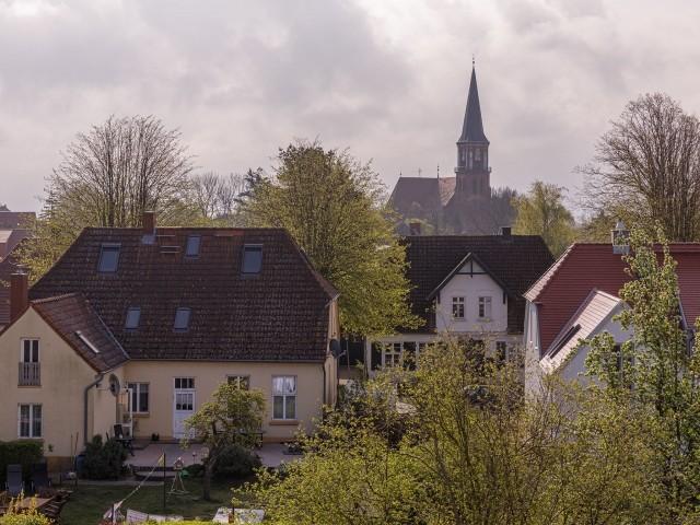 Ausblick auf den Ort Wustrow