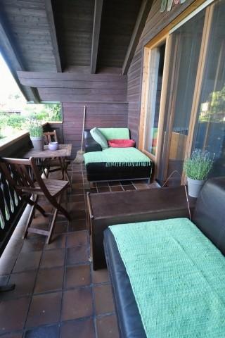 Balkon vorm Wohnzimmer
