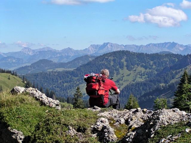 Traumhafter Blick vom Oberstaufner Hochgrat (der tlw. vom Bodensee über die Oberstdorfer