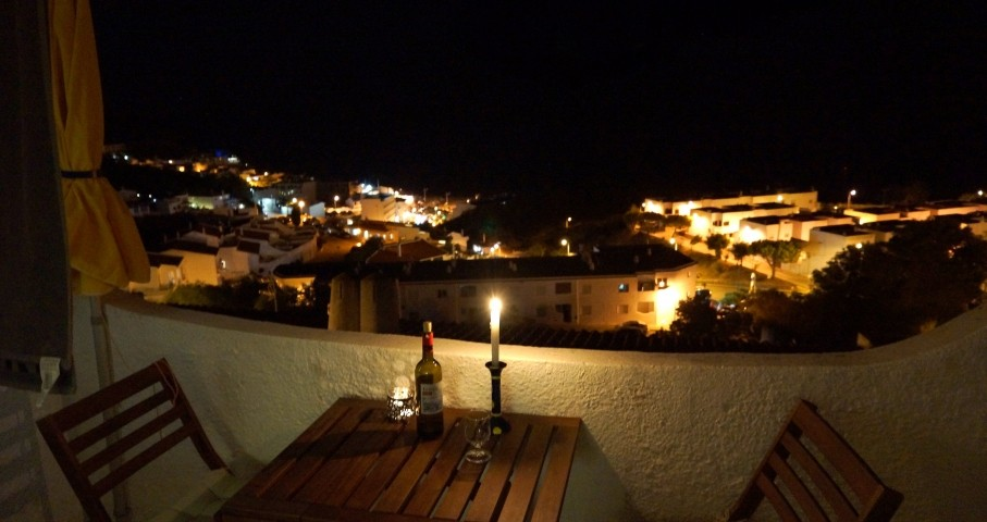 Balkon am Abend