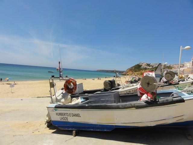 Fischerboot in Salema