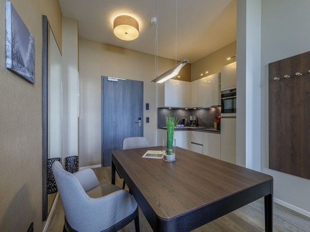 Küche mit Sitzbereich
