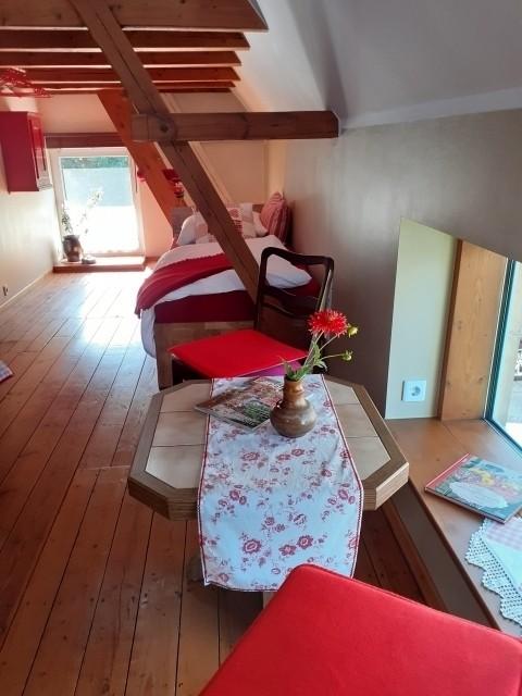 Der Schlafbereich von der Treppe aus