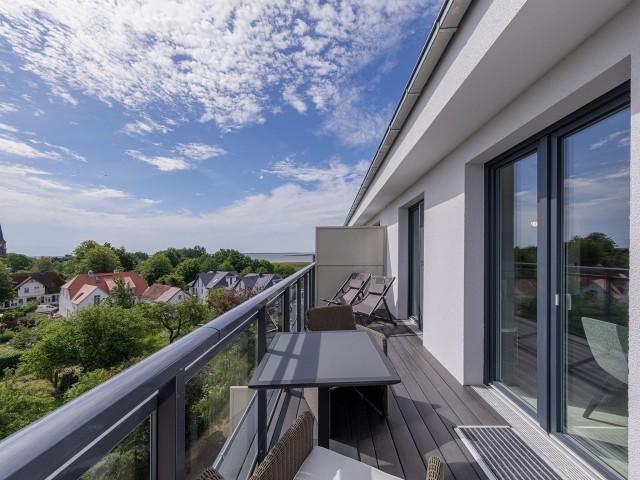 Möbellierter Balkon
