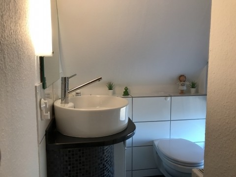 ...mit Waschbecken und WC.