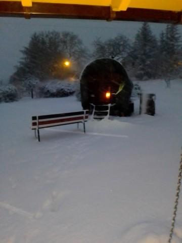 Winterwonderland in der Sauna