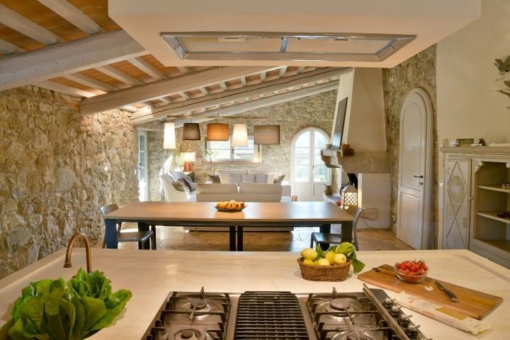 Blick von der offenen Küche