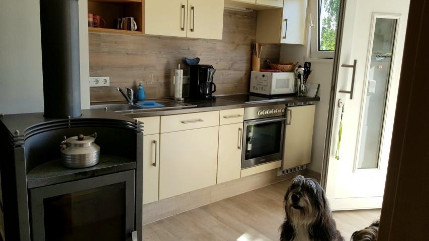 Küche mit direktem Zugang zur Südterrasse