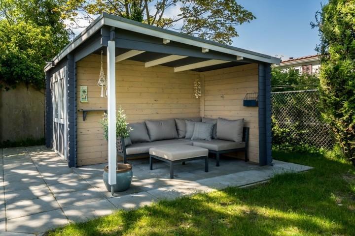 Veranda mit Lounge-ecke