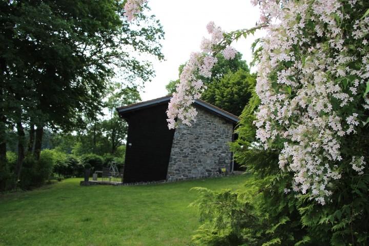 Spielwiese im 1700 m² großen Garten, Blick auf das Haus