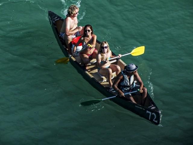 Unterwegs mit dem Ruderboot