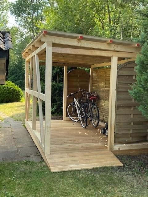 Bei uns wohnen auch die Fahrräder komfortabel