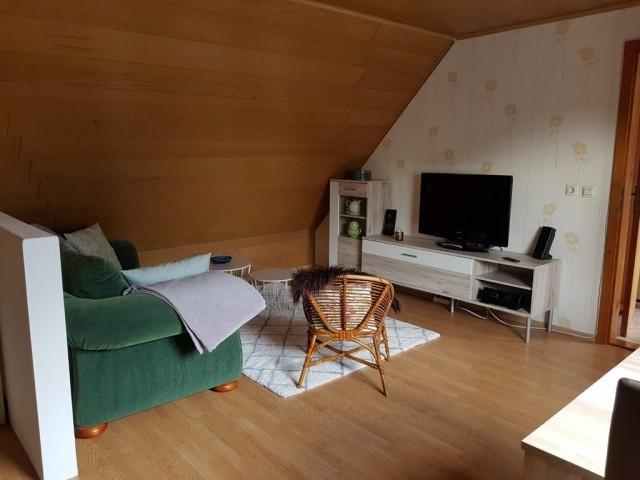 Fernsehbereich im Wohnzimmer