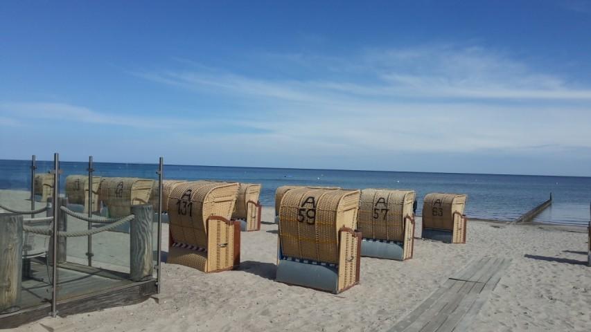 Der Strand der nur wenige Gehminuten entfernt ist