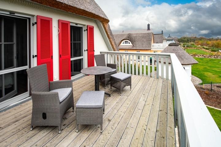 Dachterrasse mit Sitzmöbeln