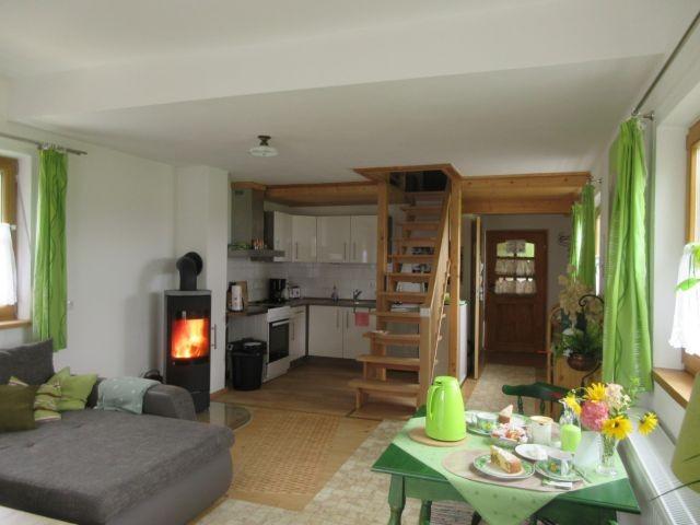 Wohnbereich mit Holzkaminofen