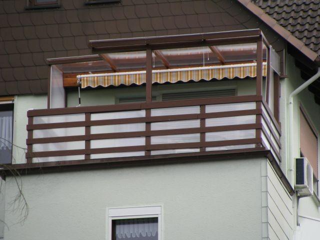 Überdachter u. Wind geschüzter Balkon