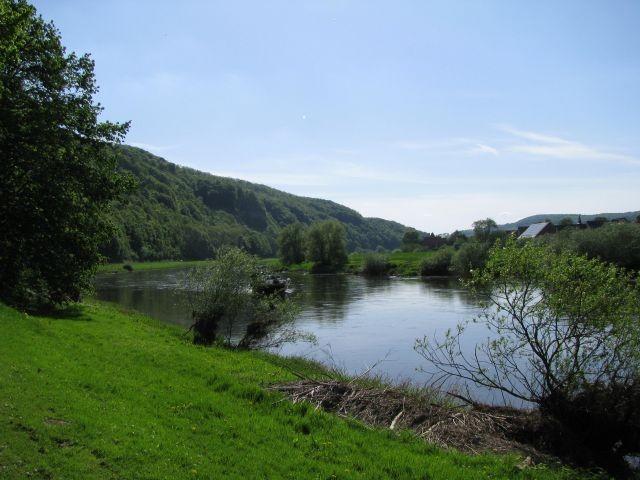 Die Weser am Ort