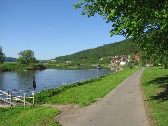 Der Weserradweg in Rühle
