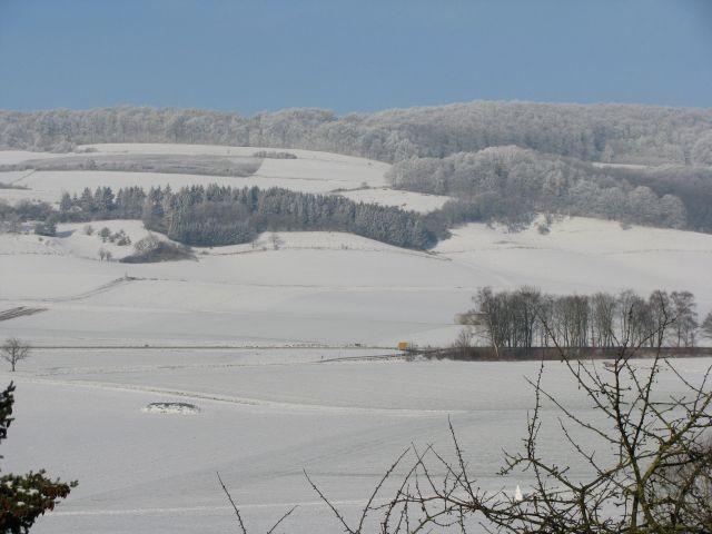 Aussicht aus Ferienwohnung im Winter