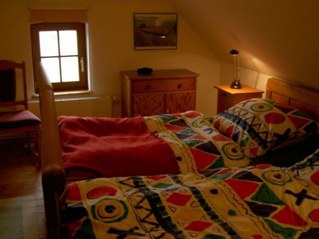 Schlafzimmer 1 mit Doppelbetten 2 x 2 m
