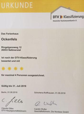 4 Sterne Ferienhaus nach DTV