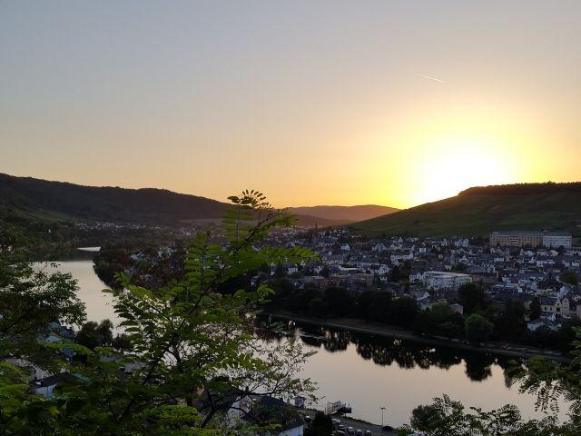 Sonnenuntergang in Bernkastel-Kues
