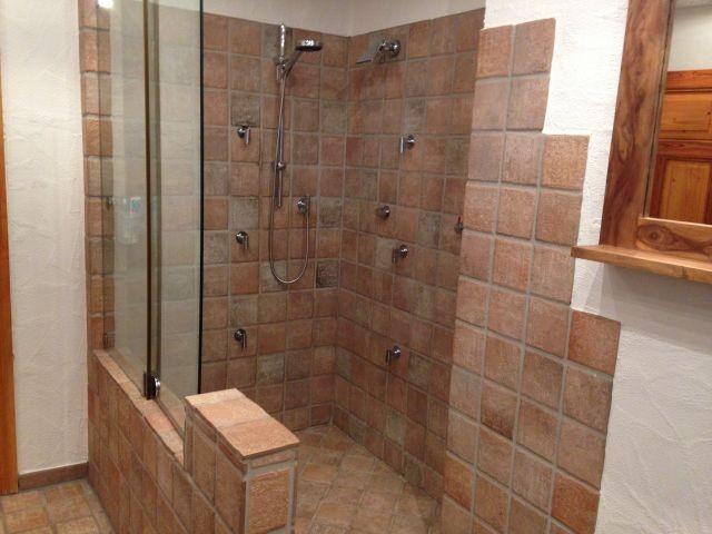 begehbare , ebenerdige Dusche