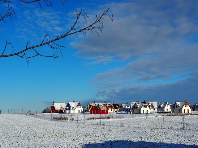 Die Siedlung im Schnee
