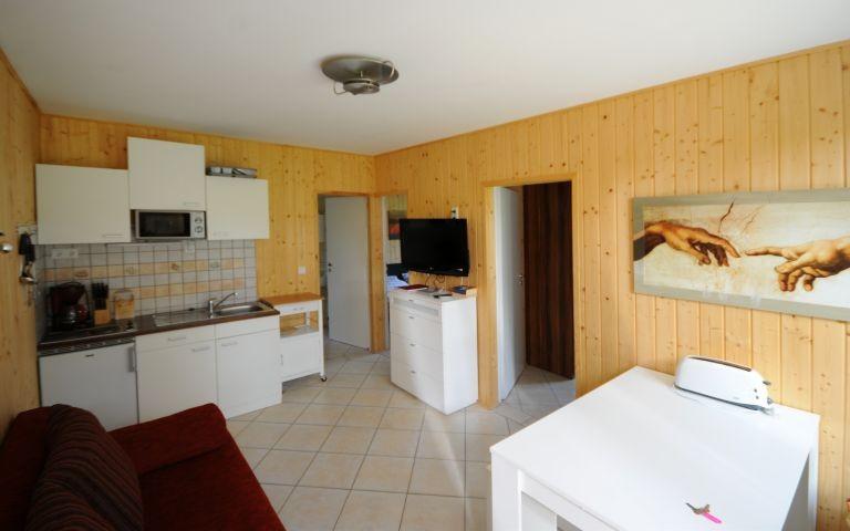 Wohnraum mit Küche und Essbereich
