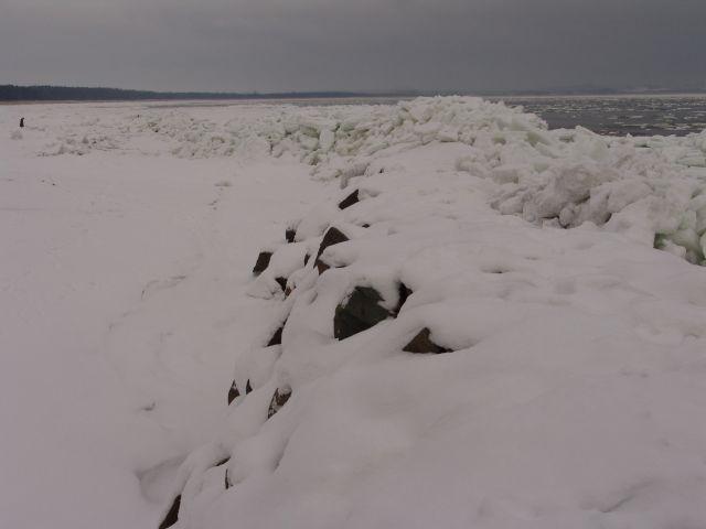 Thiessow Blick auf die Ostsee im Januar
