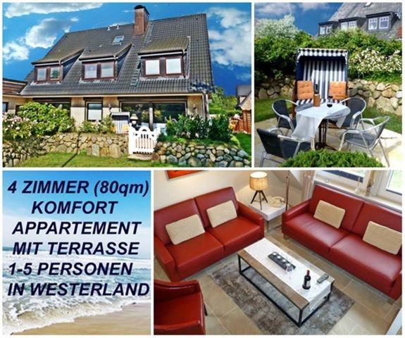 4 Zimmer Ferienwohnung SYLTER DEICHWIESE mit Garten