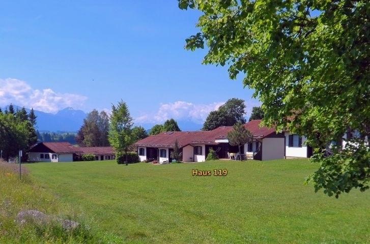 Ferienhaus ganz am Außenrand der Ferienanlage