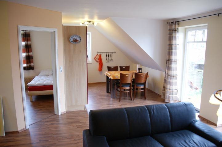Essbereich und Küche  obere Wohnung