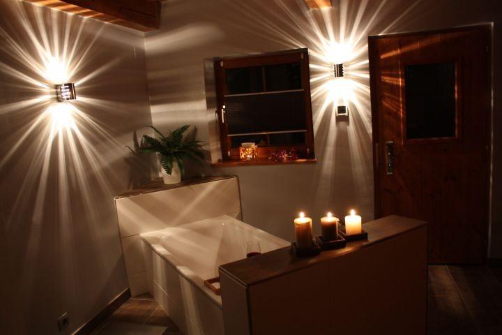 Entspannen Sie bei einem Bad...