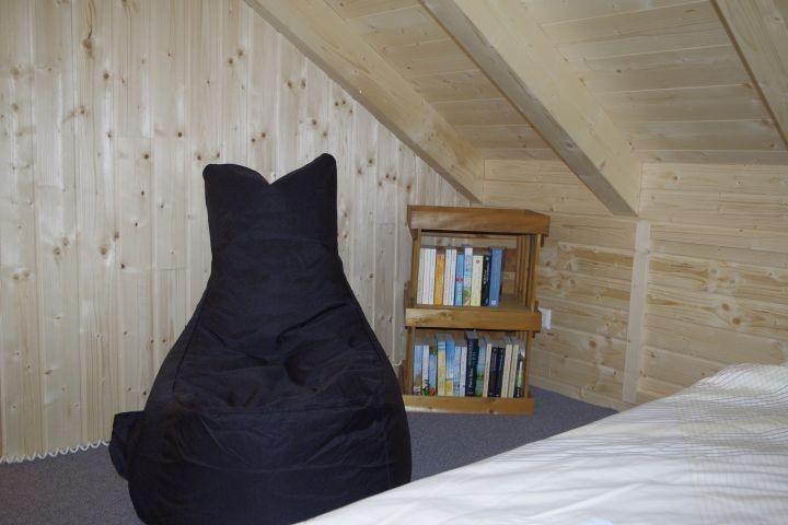 offene Galerie, hier können 2 Personen schlafen.