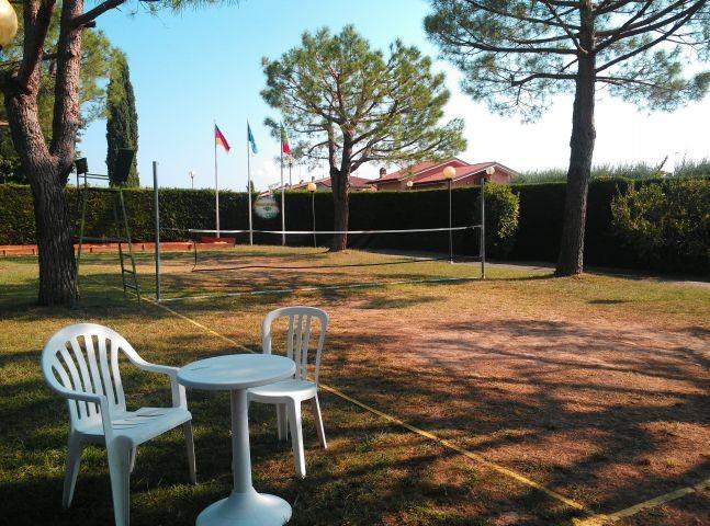 Der Spielplatz in der Ferienanlage